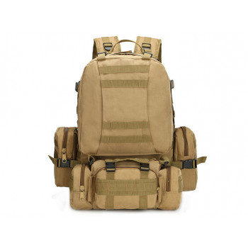 Тактический рюкзак 50 литров с подсумками. Койот