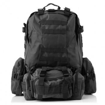 Тактический рюкзак 50 литров с подсумками. Черный
