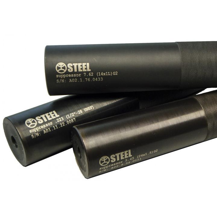 "Глушитель ""Steel для АКМ 7.62x39 14х1Lh, АК74,  ПКМ Gen2"